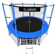 Разборный батут на металлокаркасе - i-JUMP 10ft BLUE, сетка, лестница, фото 1